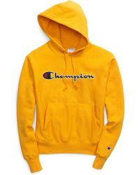 Champion - Life® Reverse Weave® Pullover Hood, Chain Stitch Script Logo - Lyst