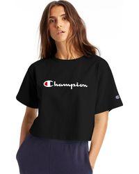 Champion - Life Heritage Crop Tee - Lyst