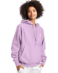 Champion Life Reverse Weave Boyfriend Hoodie - Purple