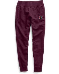 Champion - Life® Reverse Weave® Joggers, Chain Stitch Logo - Lyst