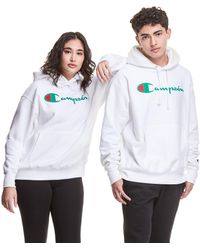 Champion Exclusive Reverse Weave Hoodie - White