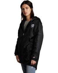 Champion Womens Sherpa Lined Stadium Jacket - Black