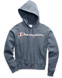 Champion - Life® Garment-dyed Reverse Weave® Pullover Hood, Embroidered Logo - Lyst