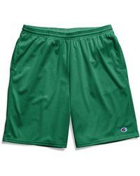 Champion Long Mesh Shorts With Pockets - Green