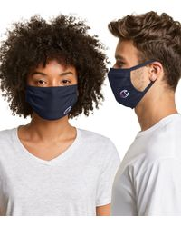 Champion Adult Cotton Wicking Face Mask - Blue