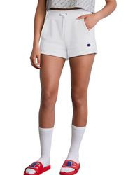 Champion Life Reverse Weave Shorts - White