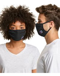 Champion Adult Cotton Wicking Face Mask - Black