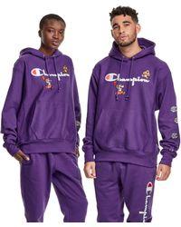 Champion X Super Mario Bros. Reverse Weave Hoodie - Purple