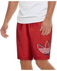 adidas Originals Shadow Woven Shorts - Red