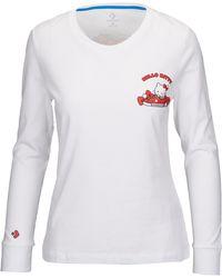4b86d61a4f1 Converse - Womens X Hello Kitty L/s Shoe Pile T-shirt - Lyst