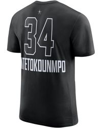0b75bd4a3ab Nike Giannis Antetokounmpo Nba Player Name & Number T-shirt in White ...