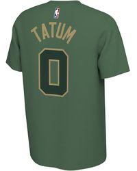 Nike Jayson Tatum Nba Earned Player T-shirt - Green