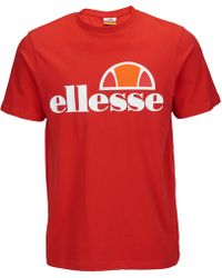 Ellesse Prado T-shirt With Classic Logo In Red