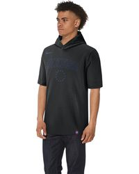 Nike Philadelphia 76ers Nba Premier Cotton Logo Short Sleeve Hoodie - Black