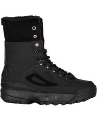Fila Disruptor Shearling Boots Sneaker Boots - Black
