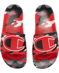 Champion Ipo Camo Slides - Shoes - Red