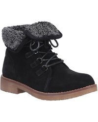 Hush Puppies Milo Womens Lace Up Boots - Black