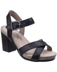 Hush Puppies Mariska Womens Ankle Strap Heeled Sandal - Black