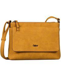 Gabor Dina Womens Messenger Handbag - Yellow