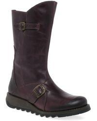 Fly London Mes 2 Womens Calf Length Boots - Multicolour