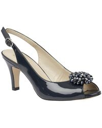 Lotus Elodie Womens Sling Back Court Shoes - Blue