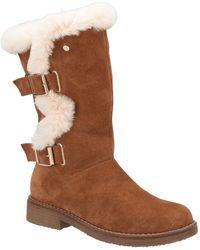 Hush Puppies Megan Womens Calf Boots - Brown