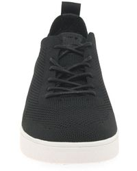 Fitflop Fitflop Rally Tonal Knit Womens Trainers - Black