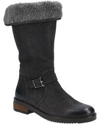 Hush Puppies Bonnie Womens Calf Boots - Black