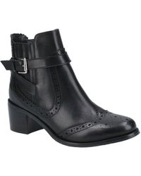 Hush Puppies Rayleigh Womens Brogue Ankle Boots - Black