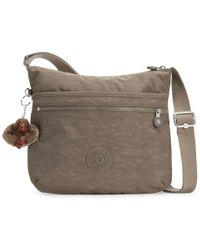 Kipling Arto Womens Messenger Handbag - Natural