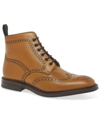 Loake Burford Dainite Mens Formal Lace Up Boots - Brown
