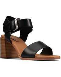 Clarks Landra70 Strap Womens Heeled Sandals - Black