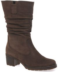 Gabor Dunmow Womens Slouch Calf Boots - Brown