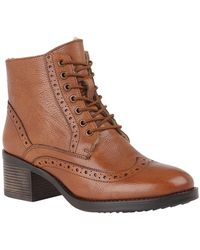 Lotus Amira Womens Lace Up Boots - Brown