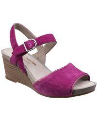 Hush Puppies Cassale Qtr Strap Wedge Sandal - Purple