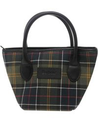 Barbour Tartan Tote Womens Handbag - Black