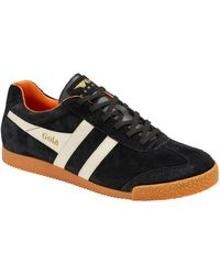 Gola Harrier Suede Mens Casual Trainers - Black