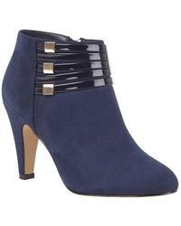 Lotus 'nell' High Heel Shoes Boots - Blue