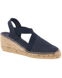 Toni Pons Ter Womens Wedge Heeled Espadrilles - Blue