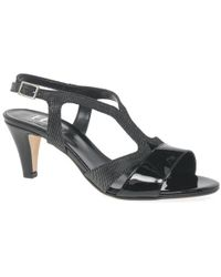 Charles Clinkard - Moonlight Dress Block Heel T Bar Sandals - Lyst