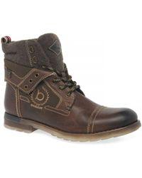 Bugatti Brett Mens Casual Leather Boots - Brown