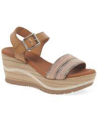 Paula Urban Waves Womens Wedge Heel Sandals - Multicolour