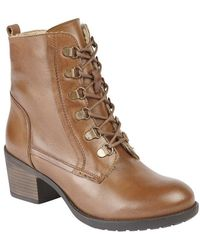 Lotus Denna Womens Lace-up Ankle Boot - Brown
