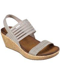 Skechers Beverlee Smitten Kitten Womens Wedge Heel Sandals - Multicolour