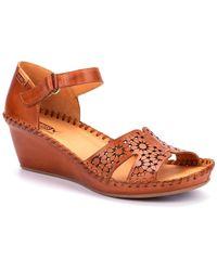 Pikolinos Maiden Womens Wedge Heeled Sandals - Brown