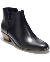 Cole Haan - Abbot Bootie Womens Mid Heeled Ankle Boots - Lyst