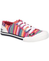 Rocket Dog Jazzing Eden Stripe Womens Casual Shoes - Red