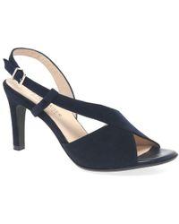 Peter Kaiser Oprah Stiletto Heel Slingback Sandals - Blue