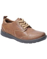 Hush Puppies Apollo Mens Casual Lace Up Shoes - Brown