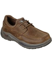 Skechers Arch Fit Motley Hosco Mens Casual Shoes - Brown